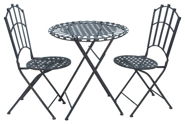lilas metal 3piece bistro table set
