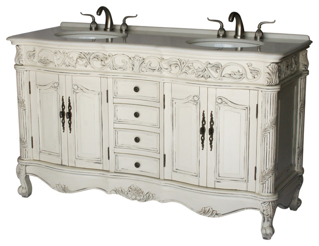 60 Antique Style Double Sink Bathroom Vanity Model 7660 B Victorian Bathroom Vanities And Sink Consoles By Chinese Arts Inc Houzz