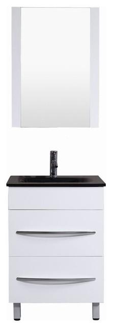 """24"""" Belvedere Modern White Freestanding Bathroom Vanity"""