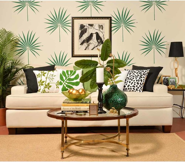 Palmetto Leaf Wall Art Stencil, Tropical Stencils, Better Than Decals  Tropical Wall