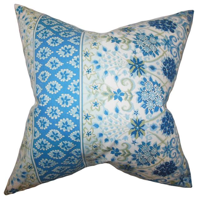 The Pillow Collection Enye Coastal Bedding Sham Blue White King 20 X 36 Throw Pillow Covers Home Kitchen