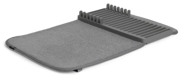 Udry Mini Dish Rack And Drying Mat Charcoal