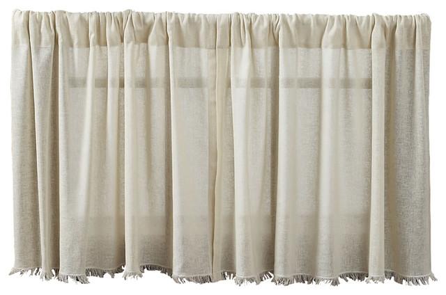 "Rt Designers Layne Textured Grommet Top Panel, Taupe, 54""x90"""