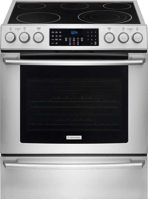 30 Ada Compliant Front Control Electric Range, Stainless Steel.