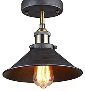edison pendant lighting. HIGHLIGHT - Antique Industrial Edison Semi Flush Ceiling Lamp Vintage Mini Pendant Fixture Lighting L
