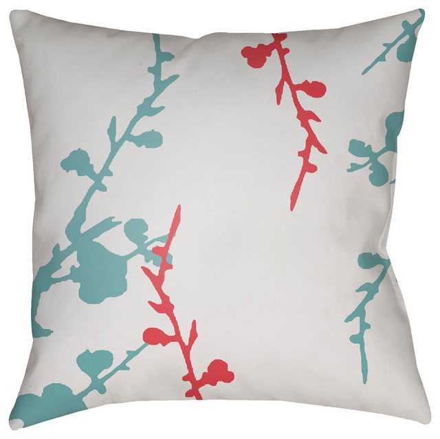 Surya Chinoiserie Floral 18x18x4 Pillow Outdoor