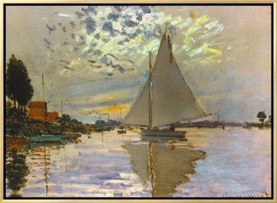 Monet: Sailboat By Claude Monet.