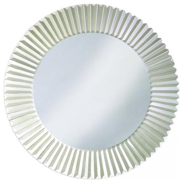 Torino Round Contemporary Venetian Style Mirror. -1