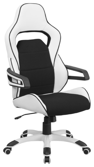 nadella highback executive office chair white with black inserts
