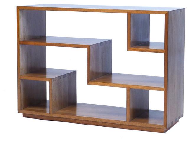 Tao Small Bookcase Natural Walnut Transitional