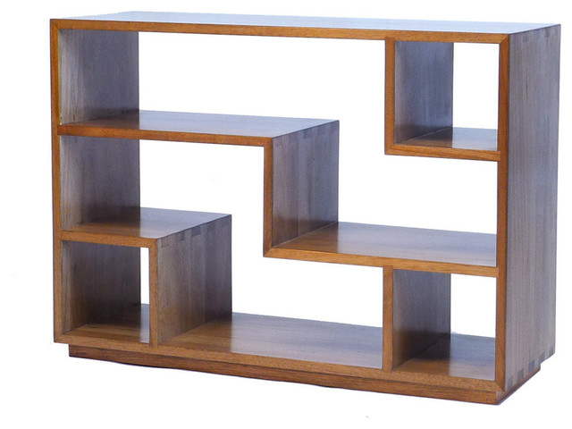 Zen Bookcase Natural Walnut Transitional Bookcases By Gingko Furniture