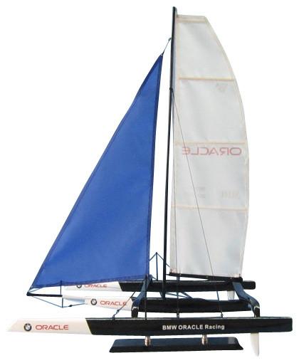 BMW Trimaran Model Racing Yacht Decorative Sailboat, 30