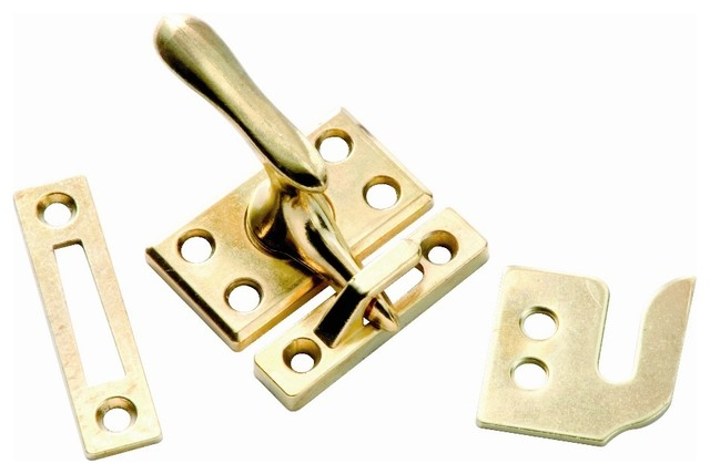 Casement Window Fastener In Polished Brass, Set Of 10.