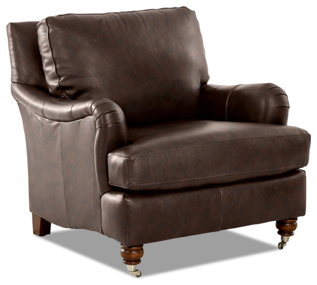 Avenue 405 Furniture Charley Swivel Accent Chair: Avenue 405 Charlotte Leather Accent Chair
