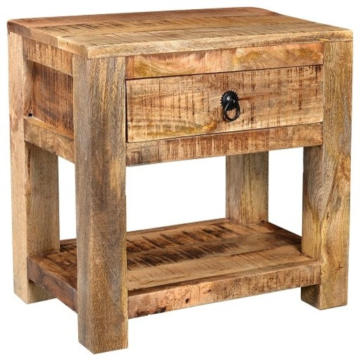 Awesome Timbergirl Surat Solid Wood Bedside Table 21 Wide X 18 Deep X 26 High Ibusinesslaw Wood Chair Design Ideas Ibusinesslaworg