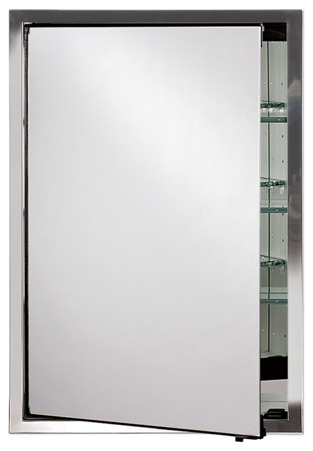 Urban Steel Medicine Cabinets- Resecessed Or Optional Surface Mount, Brushed Sta.