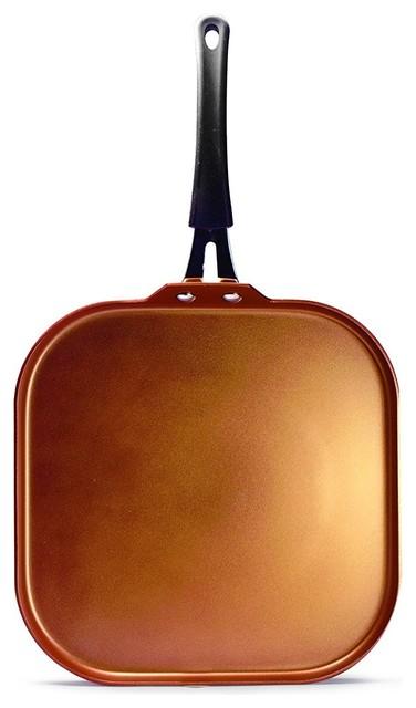 """Ecolution Eucp-3228 Endure Nonstick Pan, 11"""" Griddle, Copper."""