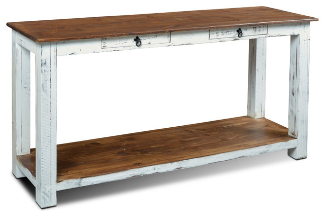 Rustic Solid Wood Distressed White
