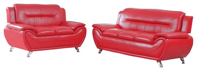 Maisie 2-Piece Sofa and Love Seat Set - Contemporary - Living Room ...