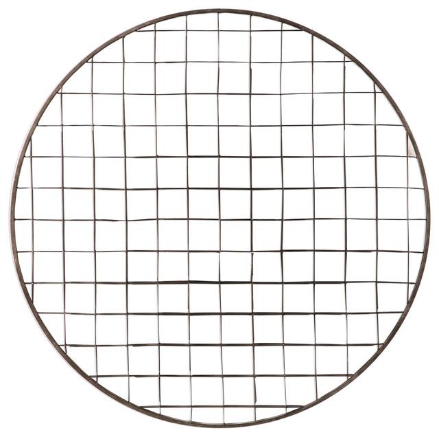 Modern Silver Mirror Circle Metal Wall Sculpture Art Modern Geometric Decor Home