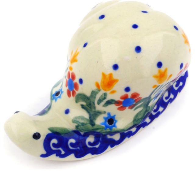 "Polmedia Polish Pottery 4"" Stoneware Snail Figurine"
