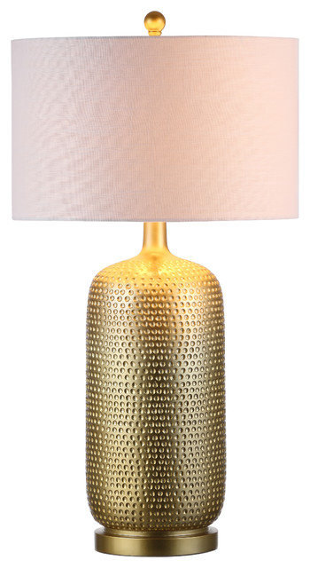 "Sophia 30"" Resin Table Lamp, Gold."