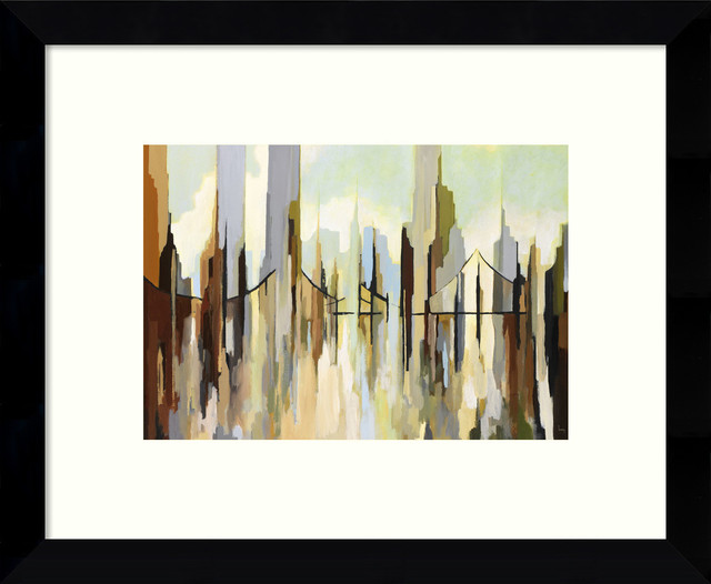 framed art print skyscraper city by gregory lang outer size 11 x9