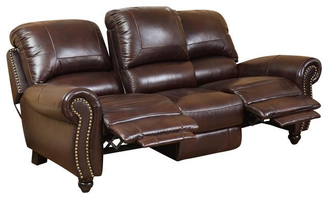 Cambridge Pushback Sofa, Burgundy.