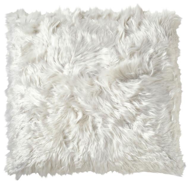 Suri Ivory Peruvian Alpaca Throw Pillow 40x40 Modern Decorative Inspiration Peruvian Decorative Pillows