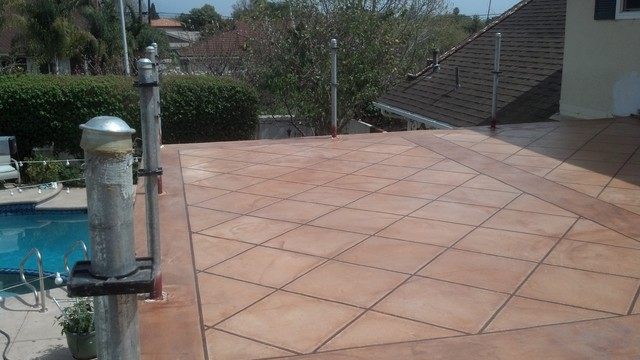 Faux Tile Finish over Desert Crete Exterior Flooring System ...