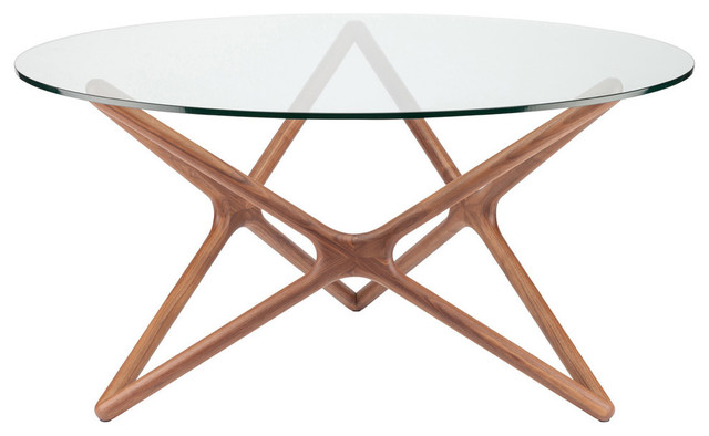 Nuevo Living Star Dining Table, Large, Light Walnut