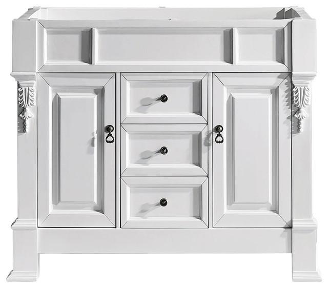 Huntshire 40 Single Bathroom Vanity Cabinet In White.
