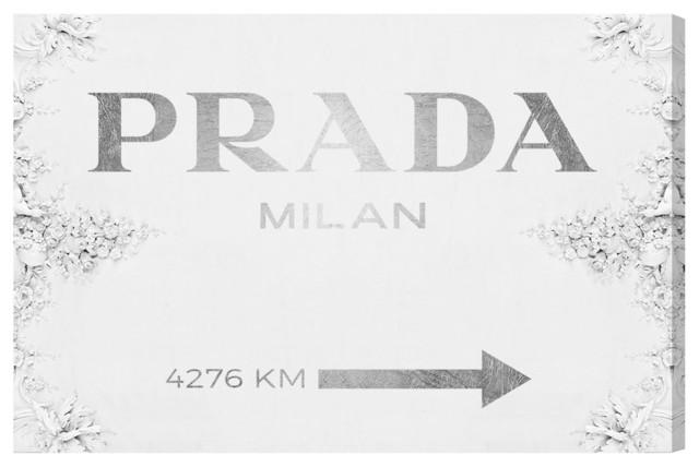 """""""milan Sign Contemporary"""" Canvas Art, 30""""x20""""."""