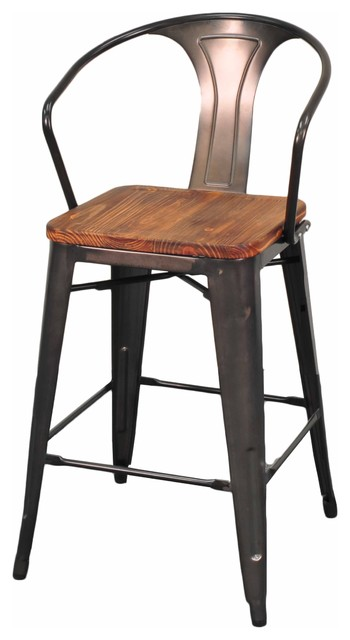 counter chairs set of 4 industrial bar stools and counter stools