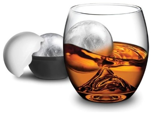 2-Piece Rock Glass and Ice Ball Mold Set