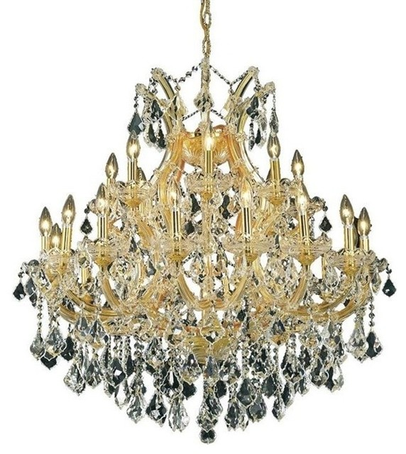 Elegant Dining Room Chandeliers: Elegant Maria Theresa Dining Room Light, Chrome Finish
