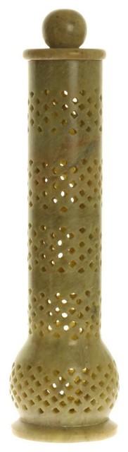 Soapstone Tower Genie Jali Incense Burner