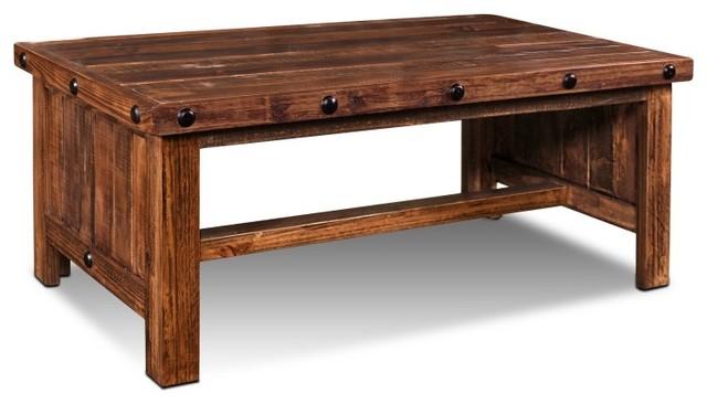 Westgate Solid Wood Rustic Brown Coffee Table Rustic Coffee