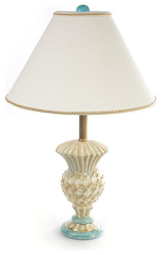 MacKenzie-Childs Parchment Check Thistle Vase Lamp : MacKenzie-Childs - Table Lamps : Houzz