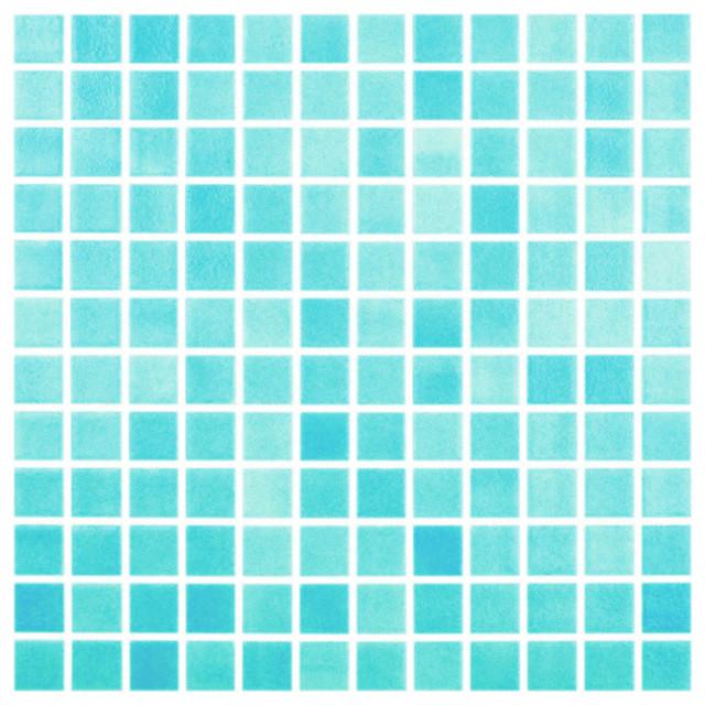 "12.5""x12.5"" Fog Turquoise Blue Glass Tile"