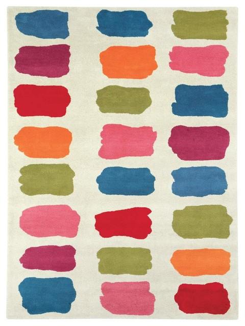 Kids/childrens Beige Wool Rug, 3&x27;x5&x27; Fantasia 1701-100.