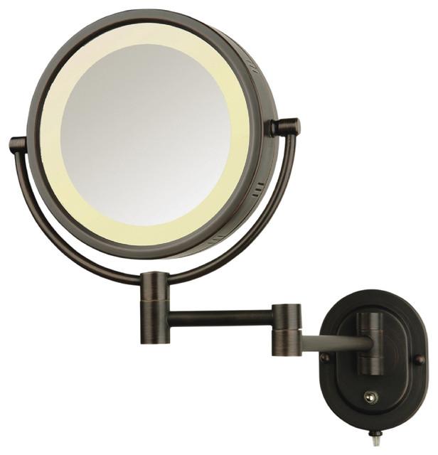 Modern Wall Mounted Bronze Make-Up Mirror