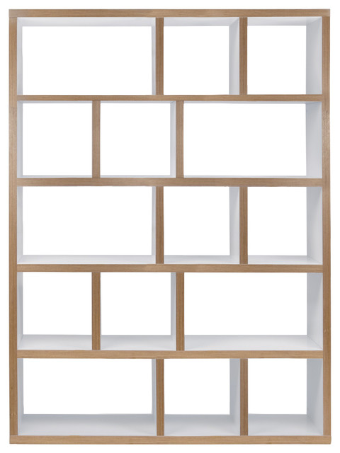 Berlin 5 Levels Bookcase 150 Cm, Pure White, Plywood.