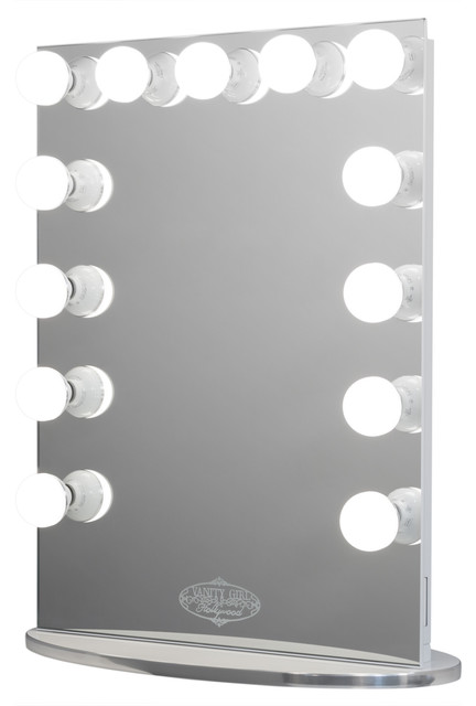 Vanity Girl Hollywood Infinity Mirror Contemporary Bathroom Mirrors