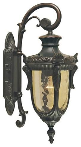 Small Wall Down Lantern, Old Bronze