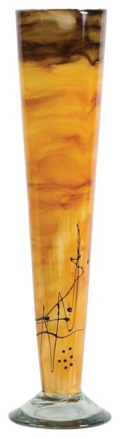 Sunburst Glass Cone Vase