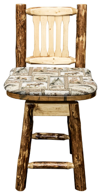 Glacier Country Counter Height Bar Stool Back And Swivel