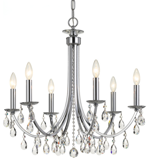 Elight Design Ed03606 6 Light 26 Wide Chandelier With Crystal Accents