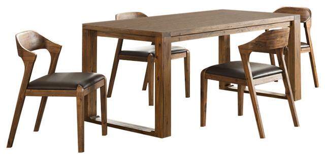 Beau Rasmus 5 Piece Dining Set, 4 Side Chairs