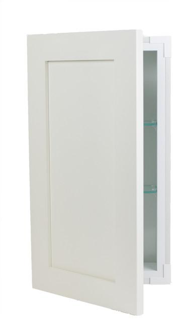 "Ezra Medicine Cabinet, White, 14""x28""."